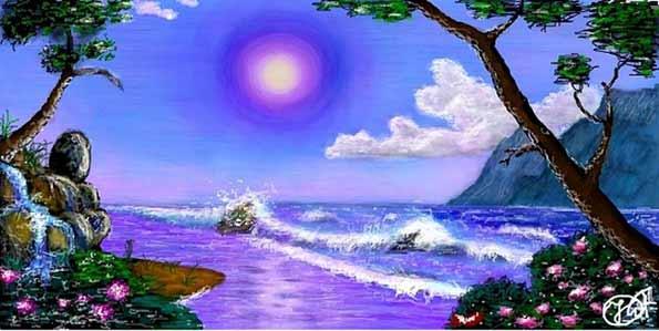 Человек, полный любви, находится в раю.